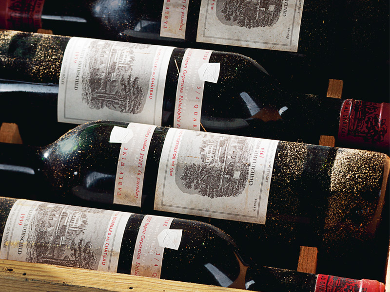 At a Christie's auction in 2013, a case of 1959 Château Lafite Rothschild realized $44,100. Photograph: Christie's Images Ltd 2014. Banner photograph, top: Xavier Young