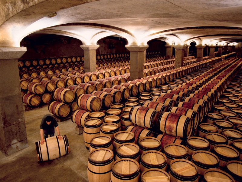The second-year cellar at Château Margaux. Photograph: Cephas Picture Library/Alamy