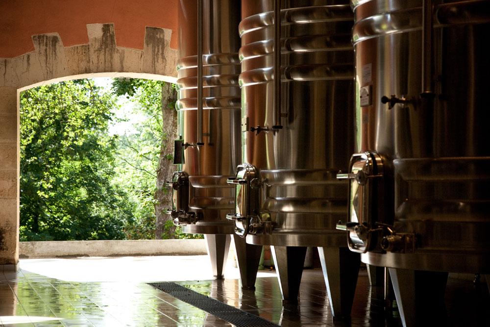 Inside a Bordeaux winery