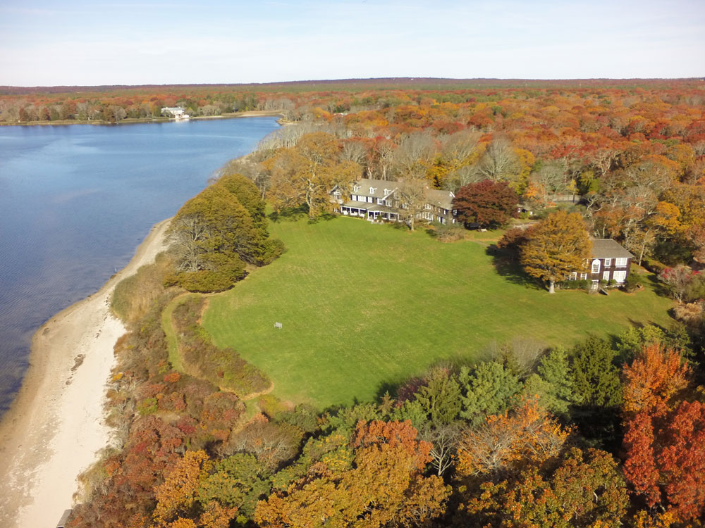 US$140 MILLION <br> Briar Patch is a magnificent waterfront estate, often called one of the most beautiful properties in the Hamptons, offers a quarter-of-a-mile of waterfront on Georgica Pond with two classic Peter Marino residences on 11.2 Acres.