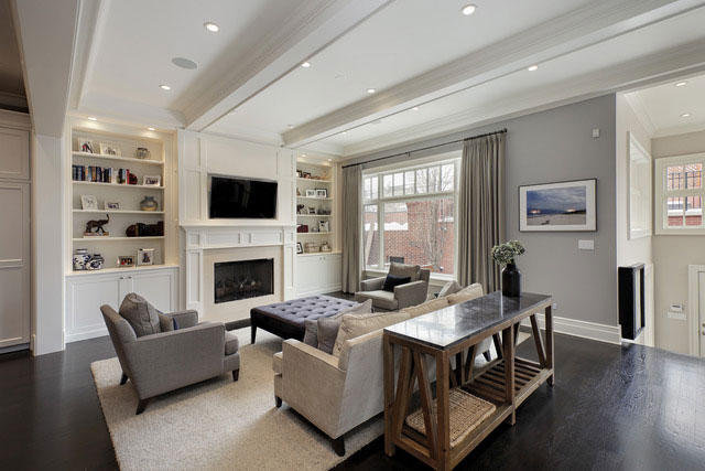 This Southport Corridor residence—a new build by GVP Development—features an eat-in kitchen with butler's pantry and a massive master bedroom with two walk-in closets and is located close to several Divvy bike docks.