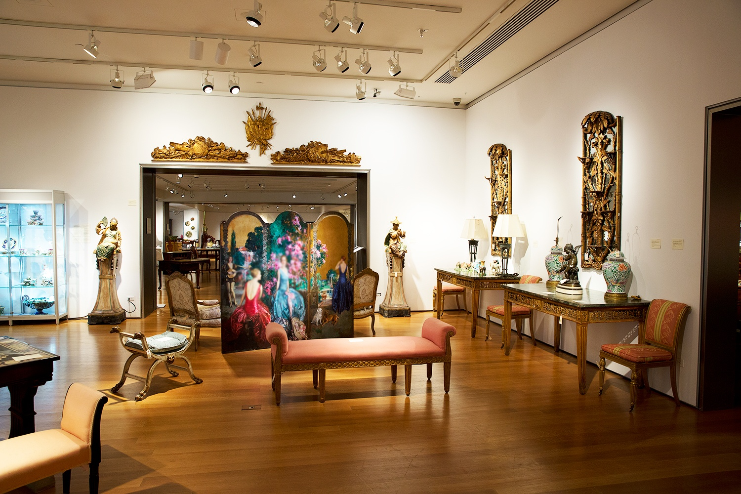 Michael Amadore of Christie's Gallery Design staged the lighting for the furniture and artworks in this Christie's New York Interiors sale.