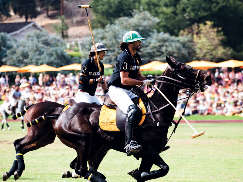 The glamorous 2012 Veuve Cliquot Polo Classic was hosted by Nacho Figueras, who also led his team to victory in a fast-paced, four-chukka game against the Nespresso team. Photograph: Chris Baldwin