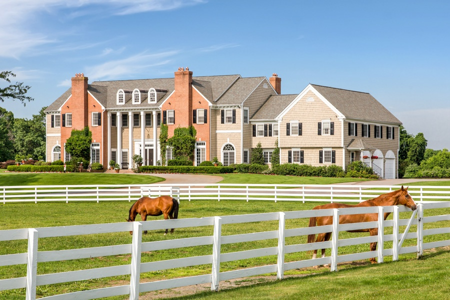 This luxury gentleman's country estate is situated on 45 pristinely manicured acres that are in farmland preservation.