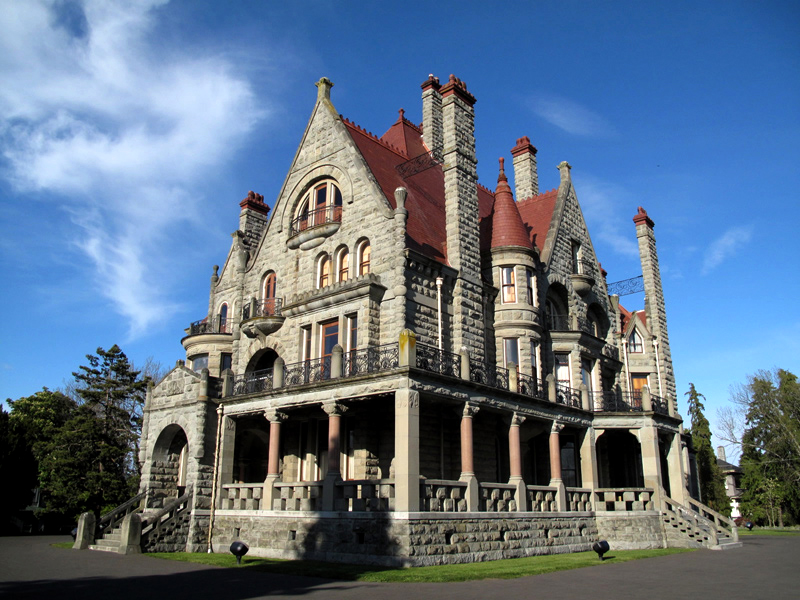 Craigdarroch Castle, in the city's Oak Bay neighborhood, also boasts impressive gardens and is a popular venue for weddings and social events.