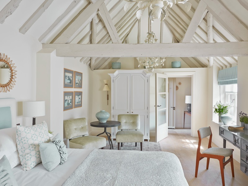 """""""A bit like home, but better"""" is how Dormy House Hotel describes its English farmhouse-meets-Scandinavian-chic design."""