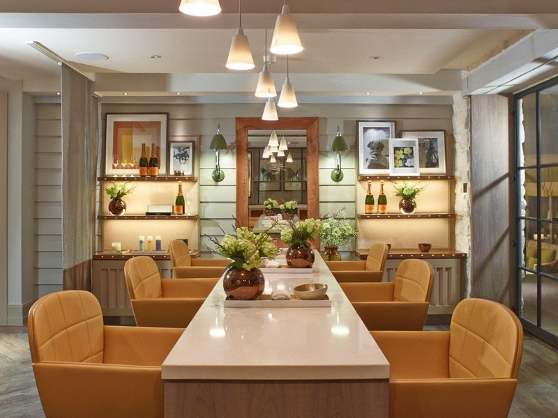 At Dormy House Spa's Veuve Cliquot Champagne Nail Parlour, guests can sip champagne while they're groomed and glossed.