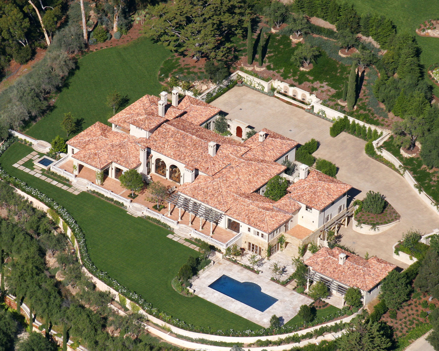 Elegant Tuscan Estate, Montecito, California