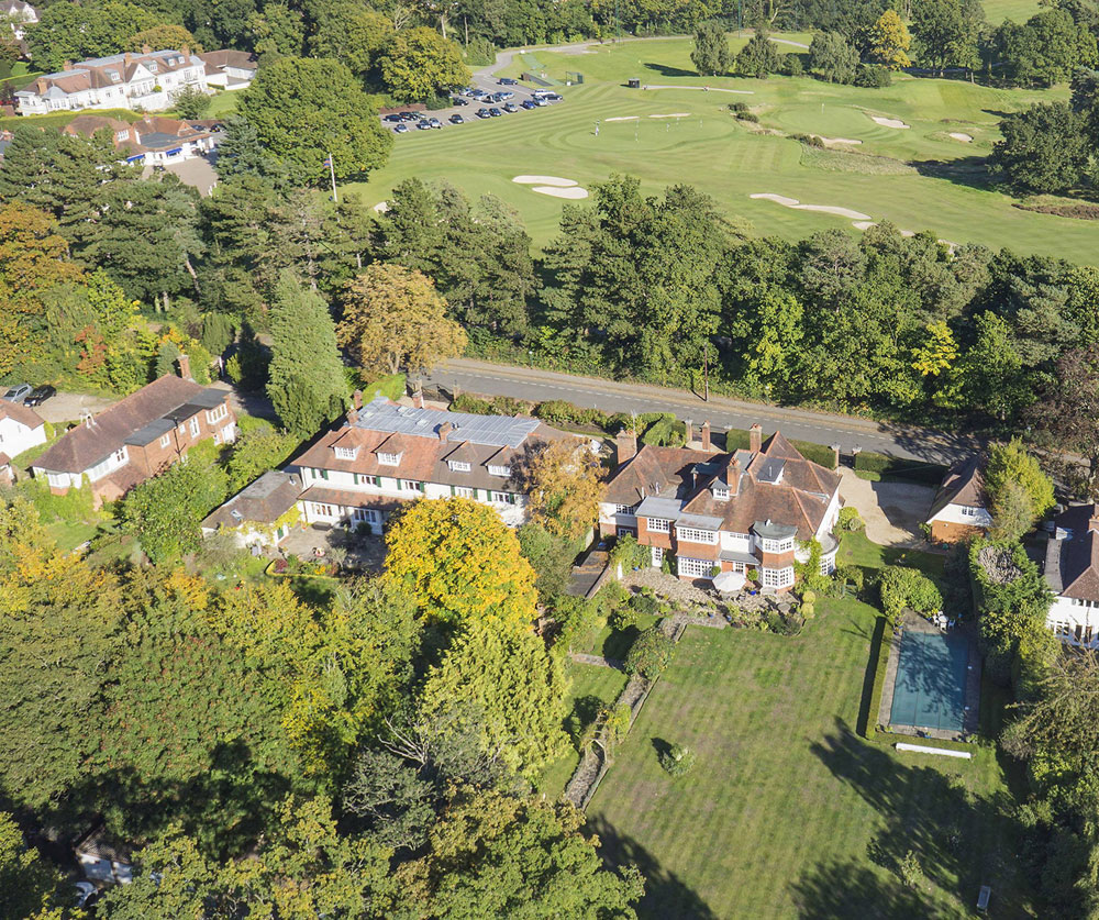 Crossways is a grand Edwardian house offering direct access to the world-renowned Sunningdale Golf Course, near Ascot, in Berkshire, England.