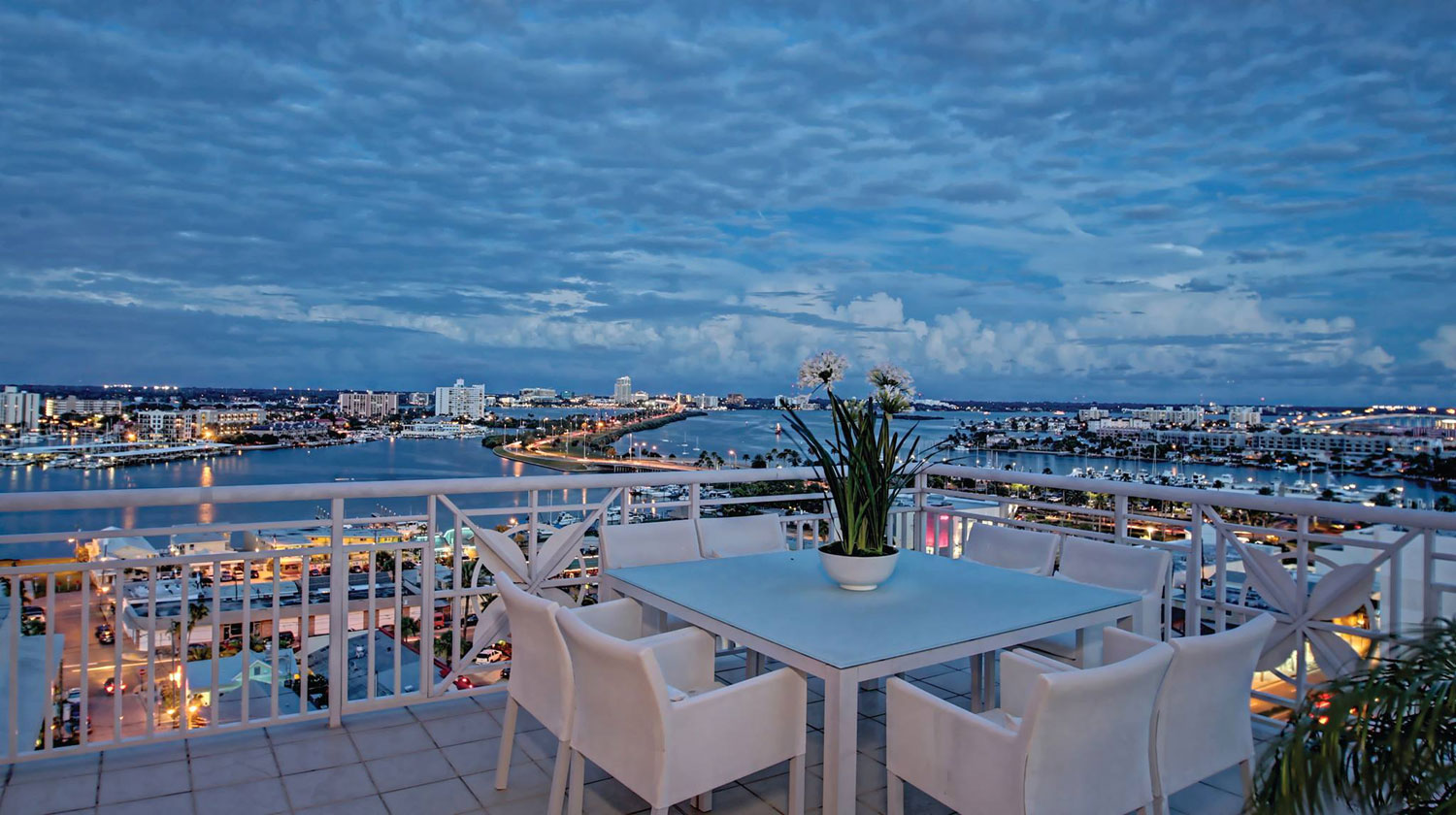 This luxury penthouse in the prestigious Mandalay Beach Club overlooks beautiful Clearwater Beach, Florida.
