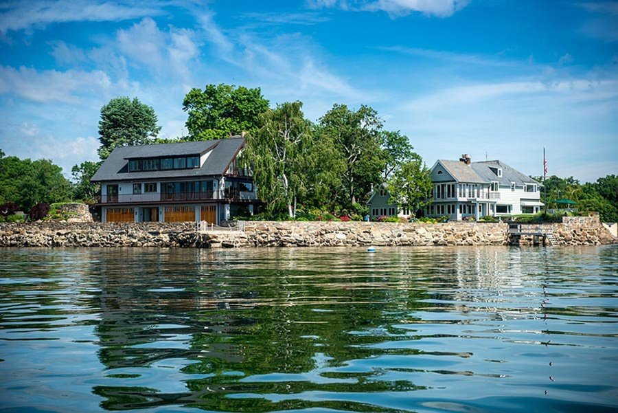 An estate in Greenwich, Connecticut, on a rare private island and sporting a fresh coat of paint earned a star turn on NBC's Open House.