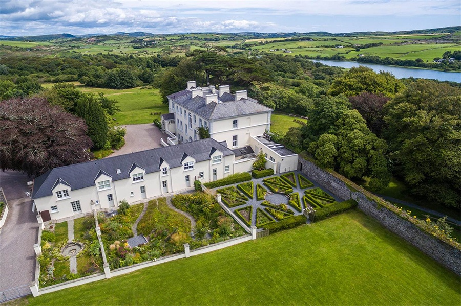 With over 150 acres of verdant meadows, woodland, and even a land-art piece by James Turrell, this Victorian estate offers the best of the Irish countryside.