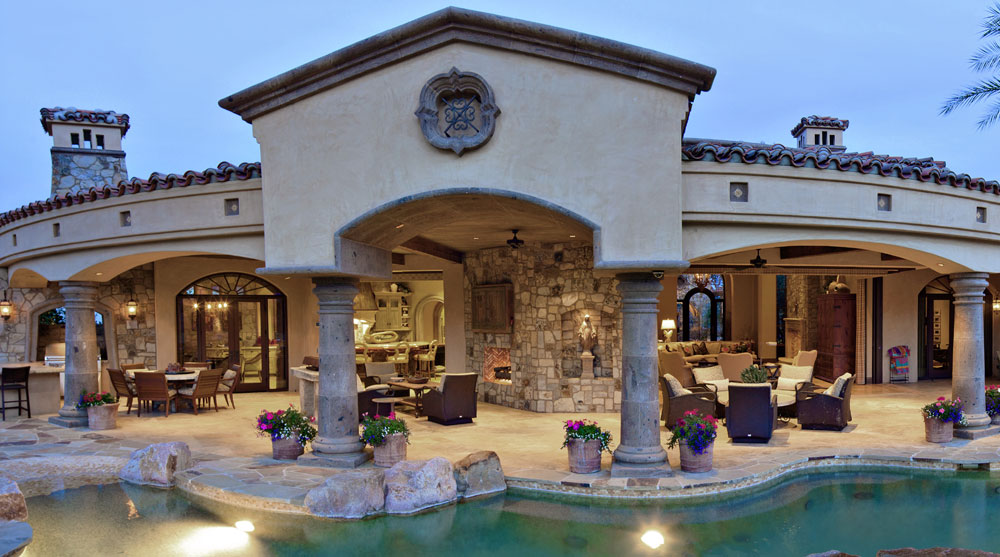 This incredible 6,257-square-foot, four-bedroom estate home offers spectacular golf and mountain views. The highlights include an executive's office overlooking the mountains, a great room with grand stone fireplace and wet bar, and beautiful interior design and furnishings by Fedderly and Associates.