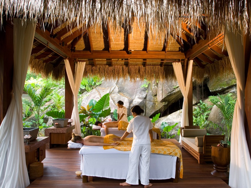 MAIA's Balinese-style spa features open-air pavilions where guests can enjoy world-class treatments, including massages, facials and body wraps.