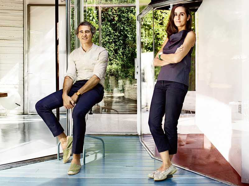 The revolutionary architects behind the Serpentine Pavilion. Portrait courtesy of José Selgas and Lucía Cano of SelgasCano