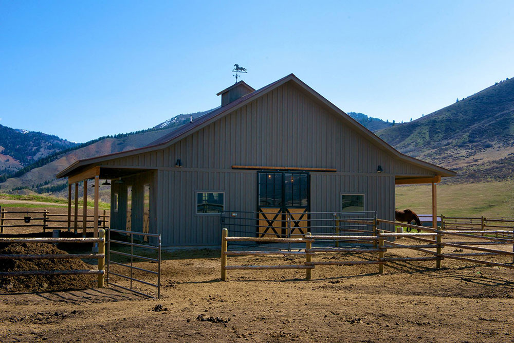 The ultimate western retreat, Eagle Ranch boasts 20 acres of beautiful rolling terrain perfect for horses.