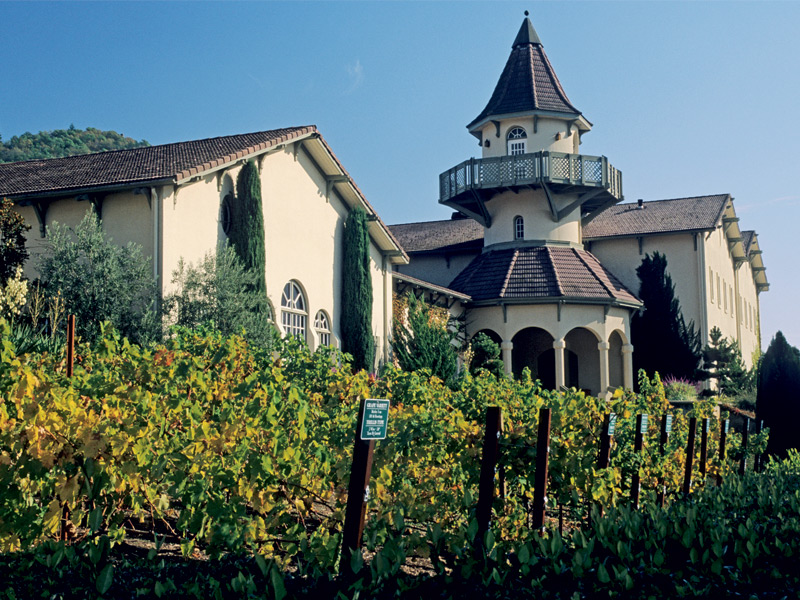 Chateau St Jean in northern California's Sonoma Valley, was founded in 1973. Photograph: Gary Crabbe/Robert Harding