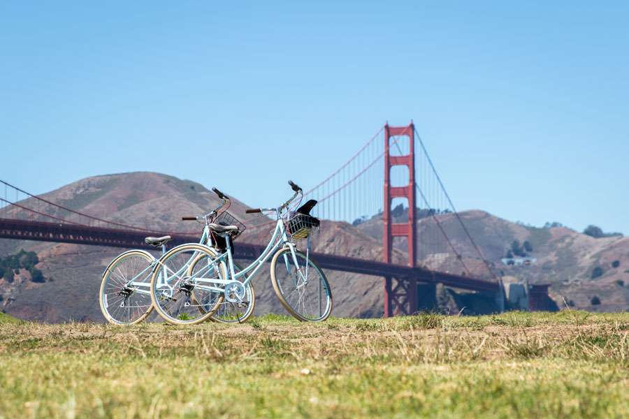 Scenic San Francisco is a national leader in environmental protection, and its efforts to make streets safer for bikers has helped reduce its citizens' carbon footprints as they pedal.