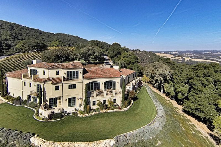 A one-of-a-kind elegant Tuscan-style estate in the desirable Templeton Gap region comprises 40-plus acres with 14 acres of Chardonnay, Sangiovese, and Viognier grapes.