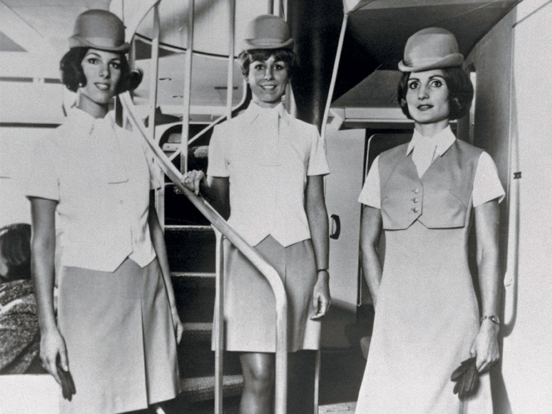 Flying in the 1950s was a glamorous affair, but significantly more expensive. Only the truly wealthy could afford it, with most plane tickets costing 40% more than the equivalent prices paid today. Photograph: Corbis