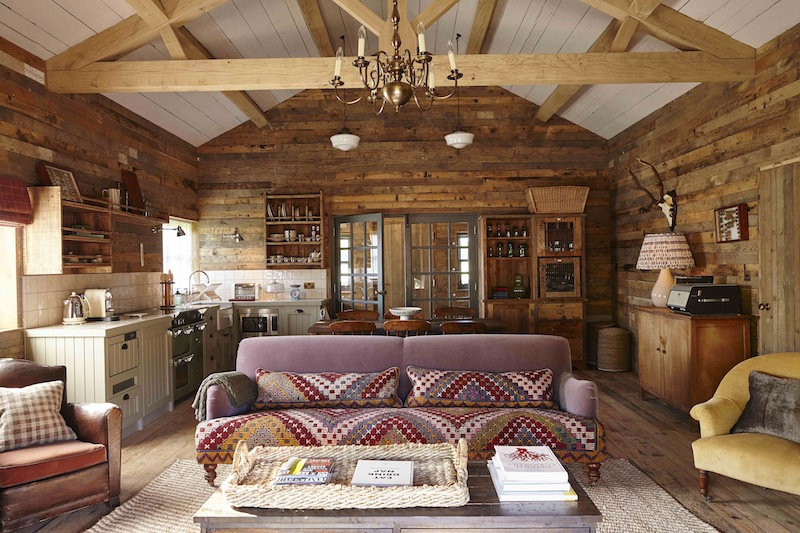A cabin at the newly opened Soho Farmhouse, which sits in 100 acres of beautiful countryside.
