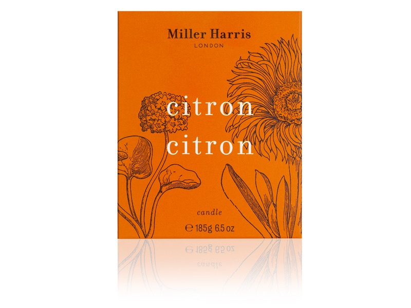 Sicilian lemon, Spanish orange and Jamaican lime form the basis of Miller Harris's warming and luxuriously fragranced range of scented candles.