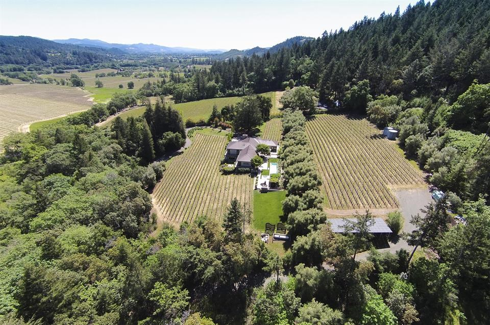 Located in Napa Valley's esteemed St. Helena appellation, the Sabina Vineyards estate features a turnkey wine making facility, three acres of vineyards that produce estate Cabernet, as well as a beautiful three-bedroom residence designed by Chicago Design Team Soucie Horner.