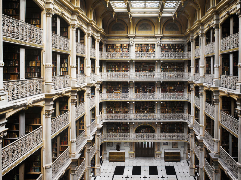 The George Peabody Library, 1878. Photograph: Will Pryce